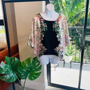 Tops - Floral batwing blouse